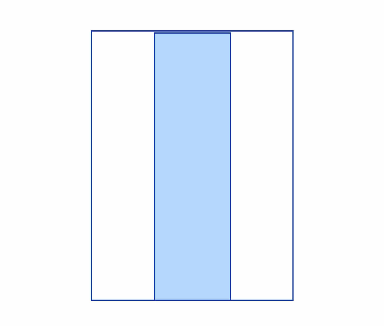 busta con finestra verticale - Kemiplast